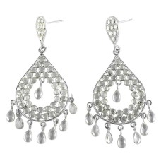 Royal Crystal Gemstone Sterling Silver Stud Earrings Jewellery Exporter India
