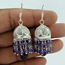 Breath of Love Amethyst Gemstone Sterling Silver Jhumka Jewellery Hersteller