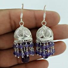 Breath of Love Amethyst Gemstone Sterling Silver Jhumka Jewellery Hersteller
