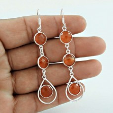 Carnelian Gemstone Silver Earrings Jewellery Wholesale
