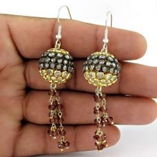 925 Sterling Silver Jewellery Beautiful Garnet, White CZ Gemstone Earrings Fournisseur