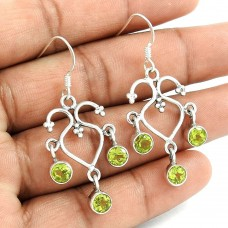 Hot!! 925 Sterling Silver Peridot Earrings Fournisseur