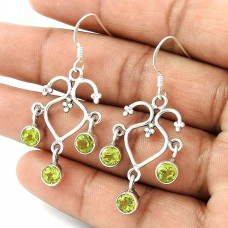 Stunning ! Peridot 925 Sterling Silver Earrings Fabricant