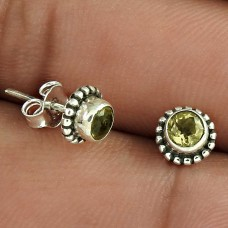 Stylish!! 925 Sterling Silver Citrine Studs Hersteller