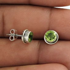 Fantastic Quality Of!! 925 Sterling Silver Peridot Studs Wholesale Price