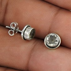 High Work Quality!! 925 Sterling Silver Citrine Studs Großhandel