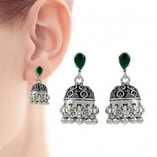 Royal Style !! 925 Sterling Silver Green Onyx Jhumka Mayorista