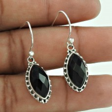 Just Perfect!! 925 Sterling Silver Black Onyx earrings Fabricante