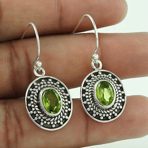 Paradise Bloom!! 925 Sterling Silver Peridot Earrings Hersteller