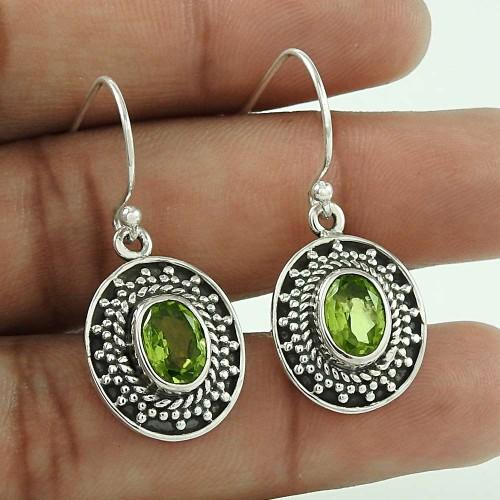 Paradise Bloom!! 925 Sterling Silver Peridot Earrings Hersteller