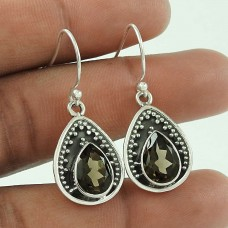 Exclusive!! 925 Sterling Silver Smoky Quartz Earrings Wholesale