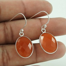 Original Carnelian Gemstone 925 Sterling Silver Earrings Lieferant