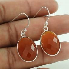 Pale Beauty Carnelian Gemstone 925 Sterling Silver Earrings Hersteller