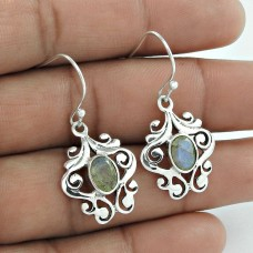 Supplier Labradorite Gemstone 925 Sterling Silver Earrings Fabricant