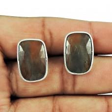 925 Silver Jewellery Fashion Multi Color Sapphire Gemstone Stud Earrings