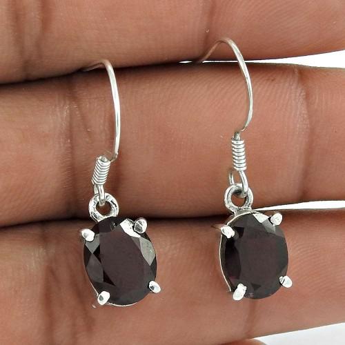 Handy 925 Sterling Silver Garnet Gemstone Earring Ethnic Jewelry Hersteller