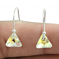 Swarovski Crystal Gemstone Earring 925 Sterling Silver Ethnic Jewelry
