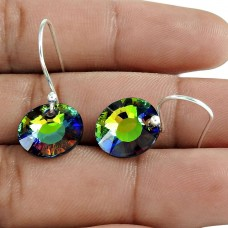 Swarovski Crystal Gemstone Earring 925 Sterling Silver Traditional Jewelry