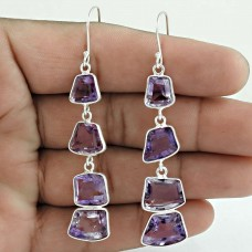 Amethyst Gemstone Earring 925 Sterling Silver Engagement Gift Jewelry Supplier