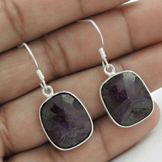 Handy 925 Sterling Silver Ruby Gemstone Earring Ethnic Jewelry