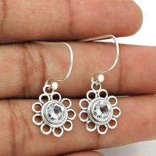 Blue Topaz Gemstone Earring 925 Sterling Silver Stylish Jewelry ER61