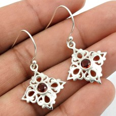 Garnet Gemstone Earring 925 Sterling Silver Indian Jewelry Z23