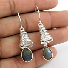 925 Sterling Silver Jewellery Ethnic labradorite Gemstone Earrings