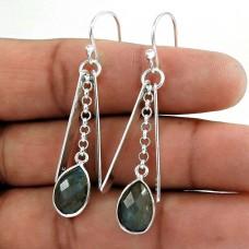 Sterling Silver Fashion Jewellery Ethnic labradorite Gemstone Earrings