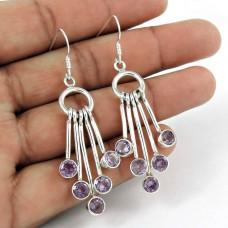925 Silver Jewellery Beautiful Amethyst Gemstone Earrings Supplier