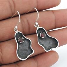 Sterling Silver Fashion Jewellery Rare Garnet Gemstone Earrings