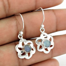 Gemstone Sterling Silver Jewellery Beautiful Rainbow Moonstone Fashion Earrings