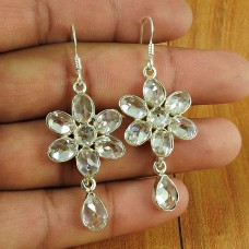 925 Silver Jewellery Beautiful Crystal Gemstone Earrings