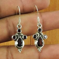 Wholesale Jewellery !! 925 Sterling Silver Garnet Gemstone Earring