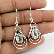 925 Sterling Silver Vintage Jewellery Beautiful Crystal Gemstone Earrings