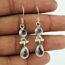 Seemly 925 Sterling Silver Amethyst Gemstone Earring Jewellery Exporter