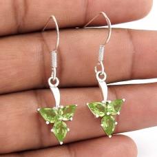 Pleasing 925 Sterling Silver Peridot Gemstone Earrings