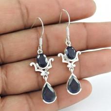 Sightly 925 Sterling Silver Iolite Gemstone Earrings