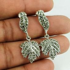 Beautiful 925 Sterling Silver Marcasite Earring Gemstone Jewellery