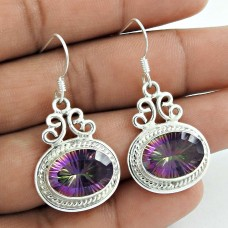 925 Silver Jewellery High Polish Mystic Topaz Gemstone Earrings Manufacturer