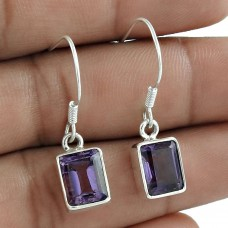925 Silver Jewellery Charming Amethyst Gemstone Earrings