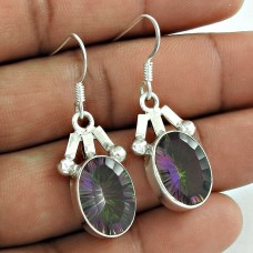 925 Sterling Silver Jewellery Fashion Mystic Topaz Gemstone Earrings Manufacturer