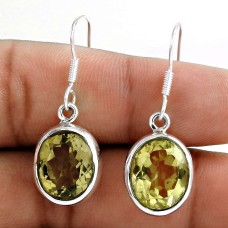 Royal Color 925 Sterling Silver Lemon Topaz Earrings Exporter India