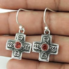Gorgeous 925 Sterling Silver Garnet Earrings Grossiste