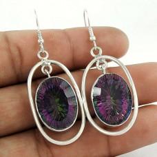 925 Sterling Silver Jewellery Beautiful Mystic Topaz Gemstone Earrings