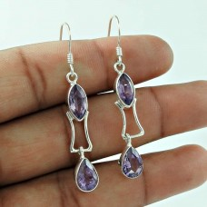World Of Beauty !! 925 Sterling Silver Amethyst Gemstone Earring Wholesaler
