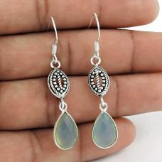 925 Sterling Silver Fashion Jewellery Fashion Chalcedony Gemstone Earrings
