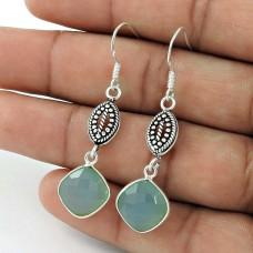 925 Sterling Silver Jewellery Beautiful Chalcedony Gemstone Earrings