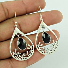 Sterling Silver Jewellery High Polish Black Onyx Gemstone Earrings Hersteller