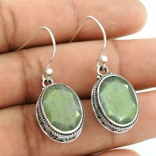 Paradise Lantern 925 Sterling Silver Labradorite Earrings Wholesaling