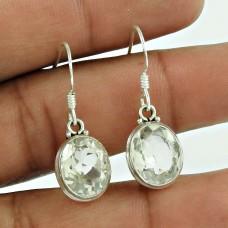 925 Sterling Silver Fashion Jewellery Charming Crystal Gemstone Earrings